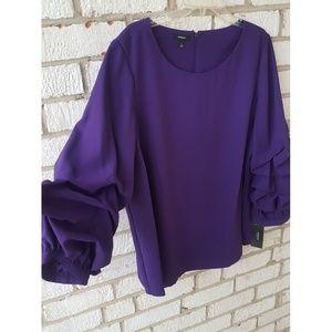 Alfani balloon sleeve blouse